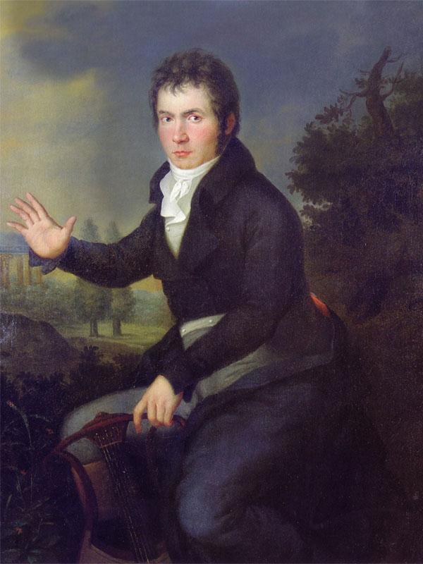 Ludwig van Beethoven - Porträt von Joseph Willibrord Mähler - Freudvoll und leidvoll