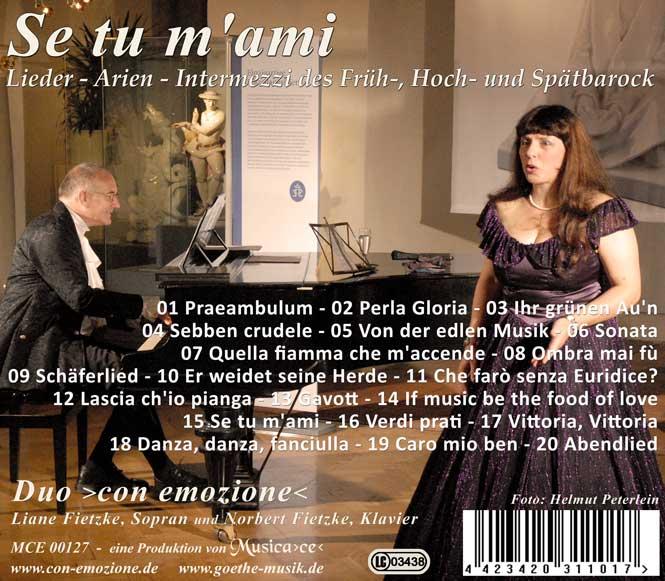 Lieder-Arien-Intermezzi des Barock
