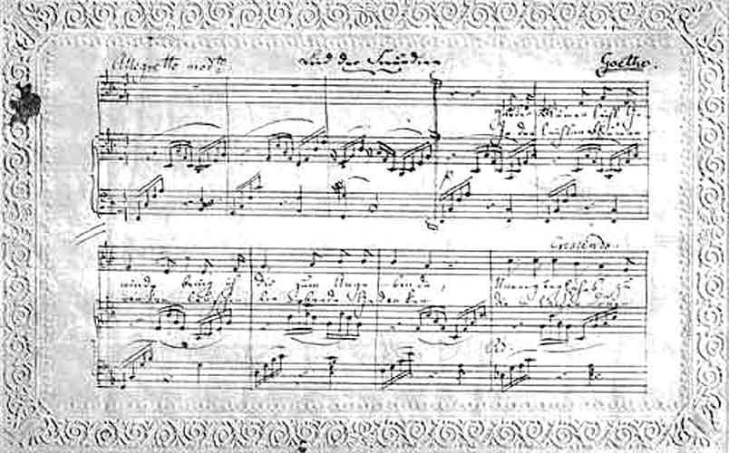 Lied der Freundin - Goethe - Mendelssohn - Originalschrift