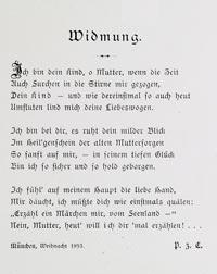 Lesungen mit Musik - Widmung - Philipp zu Eulenburg