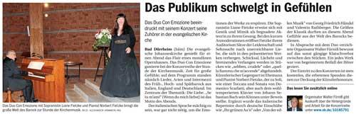 Presse - Bad Dürrheim - Duo ›con emozione‹