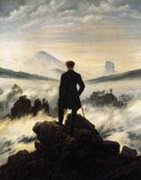 Im Tempo der Kutschen - Wanderer über dem Nebelmeer - Caspar David Friedrich - um 1818
